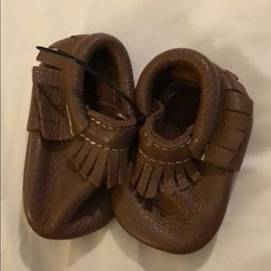 Freshly Picked brand new brown warehouse moccs